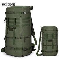 Mochila de senderismo de 60L y 50L, bolsa de Camping, montañismo táctico, escalada, Molle, bolsas militares de nailon para viaje al aire libre, XA808WA