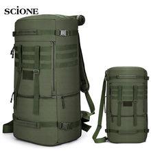 60L 50L Wandelen Rugzak Camping Tas Tactische Bergbeklimmen Klimmen Molle Nylon Leger Tassen Reizen Outdoor Militaire Bag XA808WA
