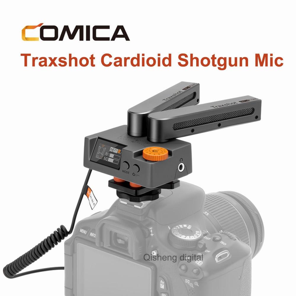 Comica Traxshot супер кардиоидный трансформируемый микрофон для iPhone Android смартфона Canon Nikon Sony DSLR камеры
