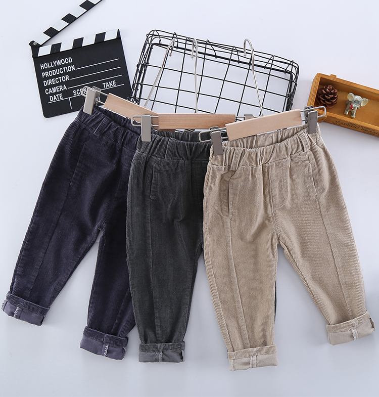 2020 Hot Sell Children Corduroy Trousers Boys Girls Long Cotton Trousers Spring Autumn Casual Pants Girls Kids Crawlers Clothing 2