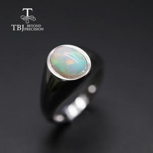 Image 3 - Bague opale naturelle pour femmes, bague ovale, bijou fin simple et élégant, en argent sterling 925, 7x9mm, promotion tbj