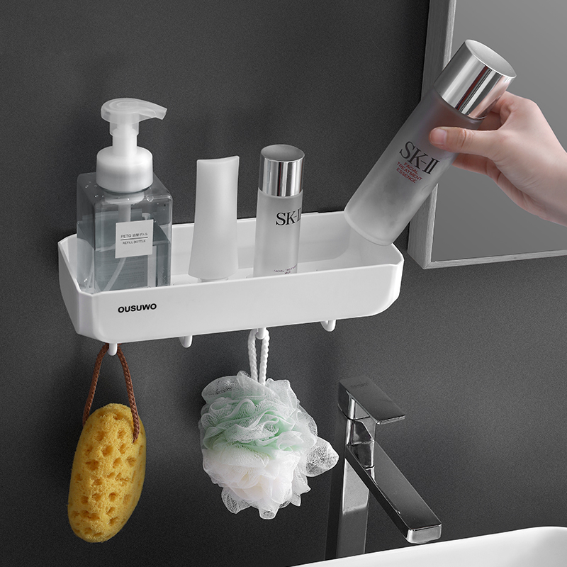 Étagère de salle de bain étagère de douche ventouse murale accessoires de salle de bain organisateur de rangement pour shampooing savon support cosmétique