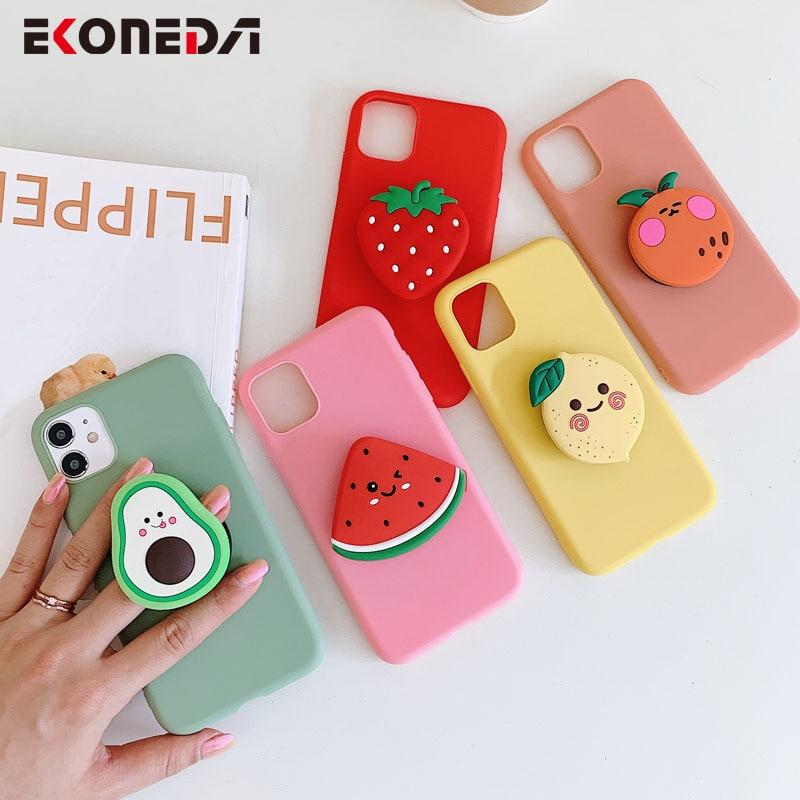 Чехол для телефона EKONEDA для Samsung Galaxy A50 A51 A70 A71 S20 Ultra S10 S9 S8 Note 8 9 10 Plus милый мягкий чехол с подставкой для фруктов|Специальные чехлы|   | АлиЭкспресс - Топ аксессуаров для смартфонов