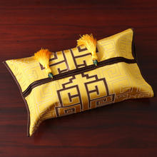 Лоскутная Геометрическая китайская шелковая атласная коробка