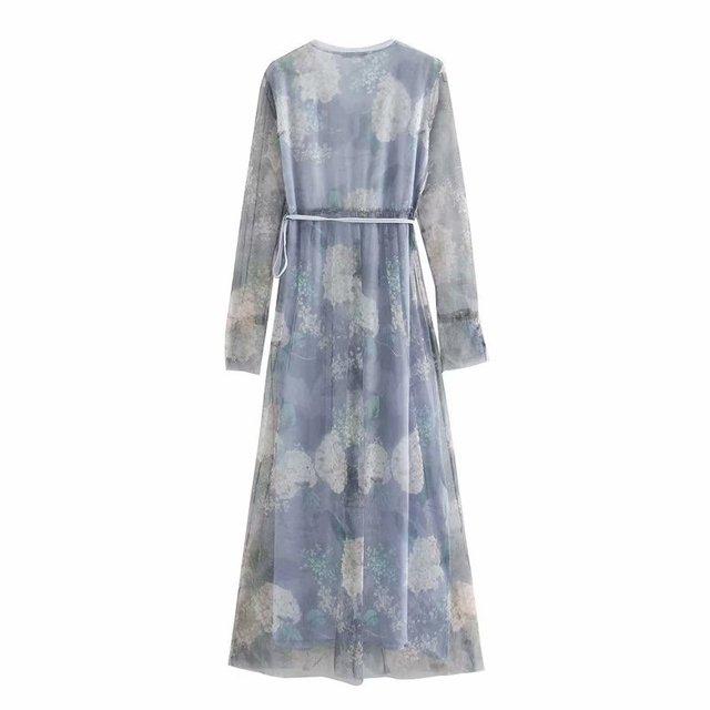 2020 Spring Summer New Grand Prix Print Pleated zaraing women Dress vadiming sheininig female Dress vintage plus size XDN9537 3