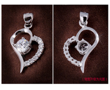 S925 Sterling Silver Womens Neclace With Charming Trendy Heart Pendant Necklace For Fashion Female Gifts Wholesale