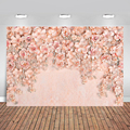 3D Floral Wall Backdrop Wedding Party Banner Backgrounds Photography Valentine's Day Backdrop Poly Props for Photographers