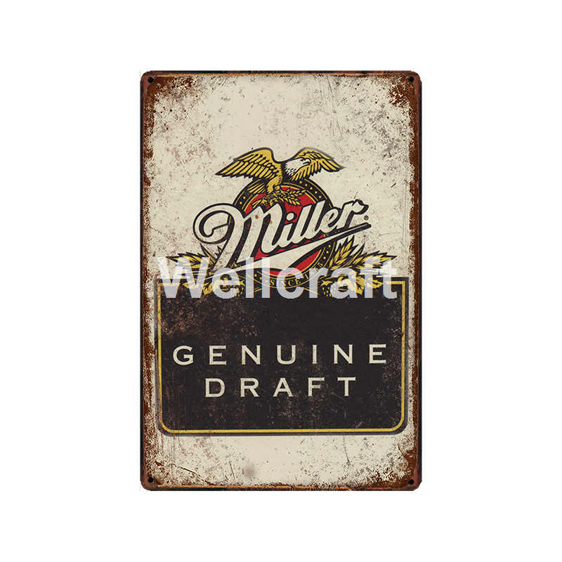 [ WellCraft ] Drink Great Beer with Great Friends Tin Sign Posters Custom Vintage Painting Sticker Metal Decor  LT-1973