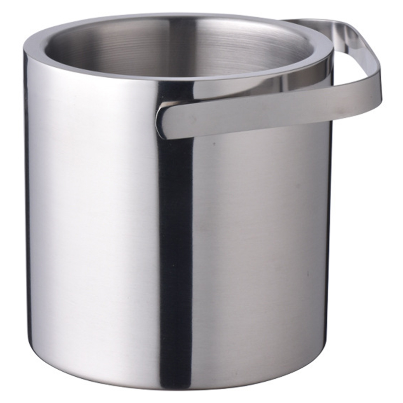 Image 3 - Ice Buckets with Stainless Steel Ice Tongs,Double Wall Ice Bucket with Lid,Silver Ice Wine Chiller for Bar Paties,Ice Buckets foIce Buckets & Tongs   -