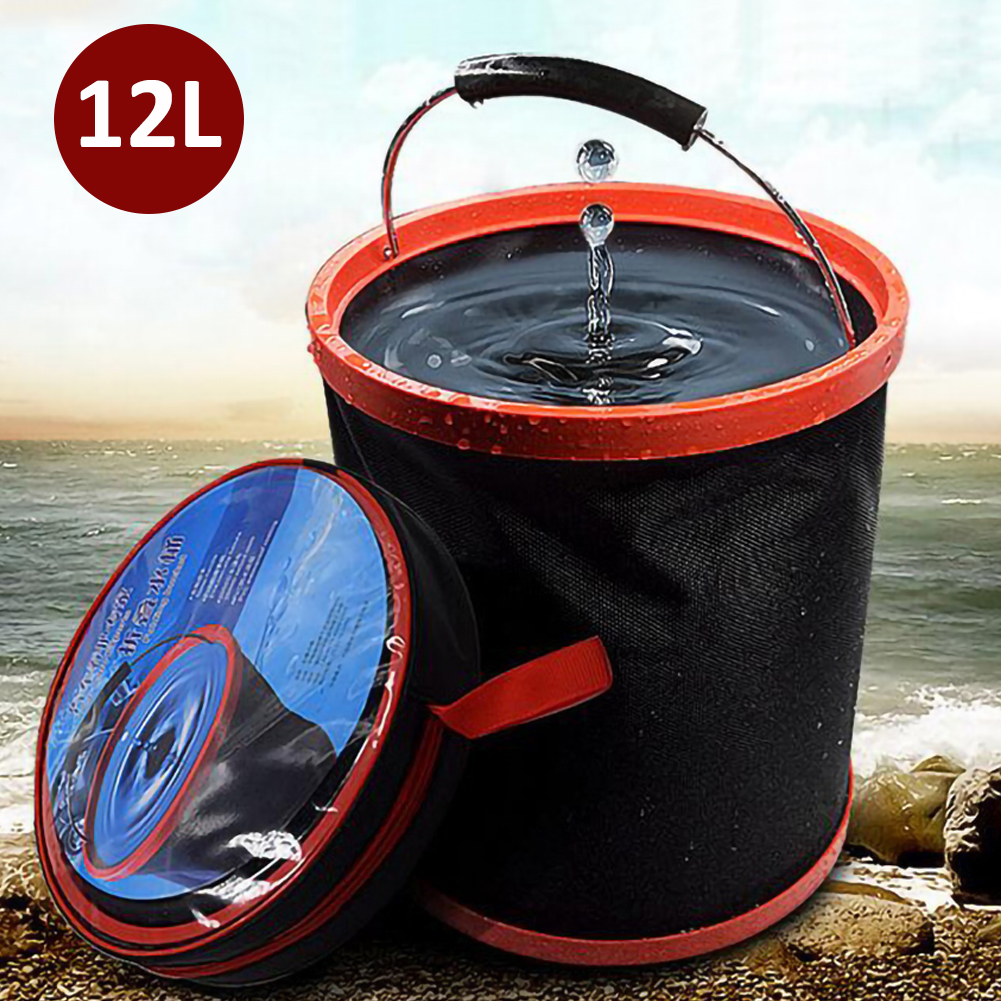 12l lavagem de carro grande balde dobrável