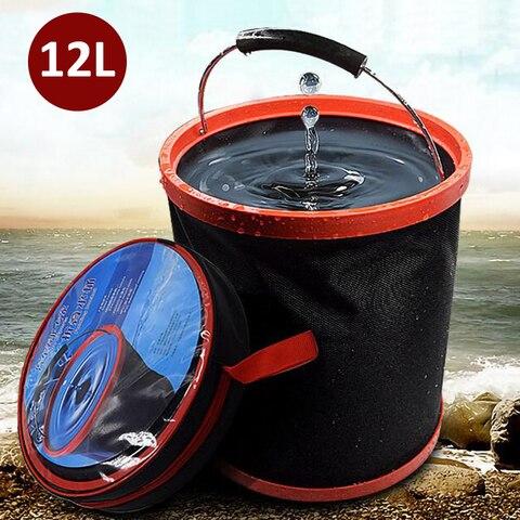 12l lavagem de carro grande balde dobravel balde casa multi funcao portatil balde equipamento de