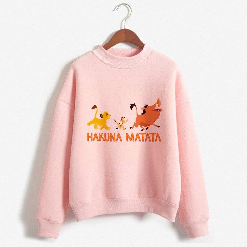 2019 New The Lion King Hakuna Matata Hoodies Women Fashion Cartoon Letter Print Hoodie Womens Clothing 90s Harajuku Sweatshirt