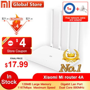 Xiaomi 4A Router Gigabit edition 2.4GHz +5GHz WiFi DDR3 High Gain 4 Antenna APP Control Mi router 4A WiFi Repeat Xiaomi Router(China)