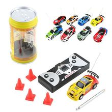 Mini Multicolor Coke Can RC Radio Remote Control Speed Micro Racing Car Toy Gift 634F стоимость