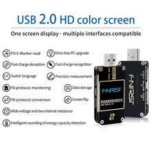 FNB38 แรงดันไฟฟ้าและแรงดันไฟฟ้า METER USB Tester QC4 + PD3.0 2.0 PPS โปรโตคอลการชาร์จอย่างรวดเร็วความจุทดสอบเครื่องทดสอบ USB