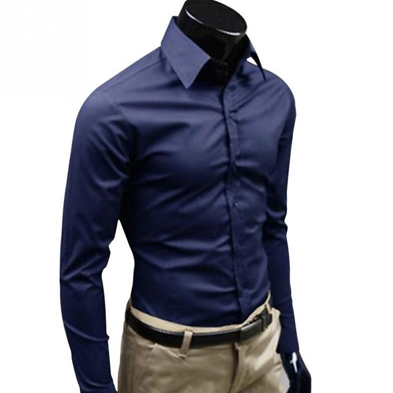 English style business shirt, suitable for men's long sleeves, high quality cotton slimming casual wear,suitable for mens shirts