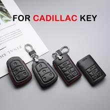 Pour Cadillac CTS Escalade SRX ATS STS XTS CT6 XT5 voiture porte-clés porte-clés porte-clés anneau étui à clés en cuir couverture de voiture style