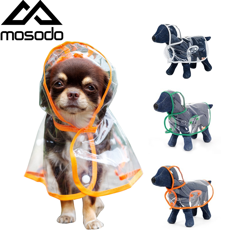 Mosodo Pet Raincoat Dog Transparent Raincoat  Suitable For Large, Medium And Small Dogs Hooded Windproof Design
