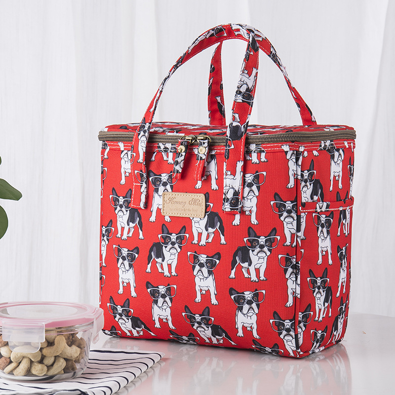 Portable Lunch Bag New Thermal Insulated Lunch Box Tote Cooler Bag Bento Pouch Lunch Container School Food Storage Bags