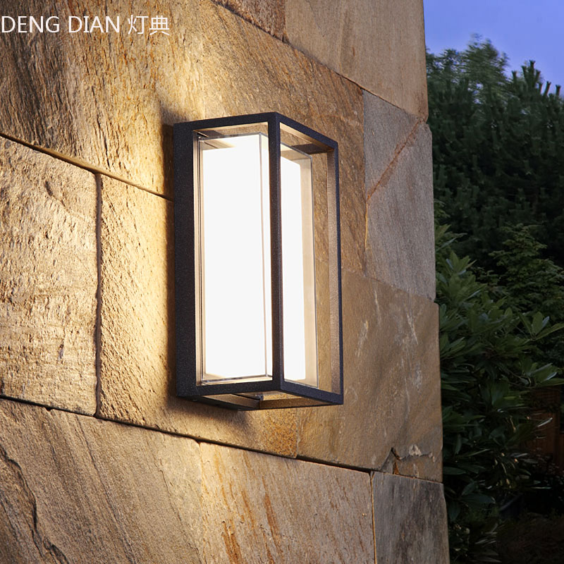 Modern Outdoor Lighting Waterproof LED Industrial Wall Lamps Aluminum Garden Wall Lights White Porch Lights Balcony Corridor 9W