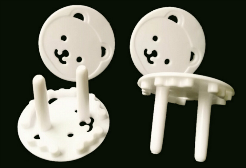 Lovely 4 Pieces Child Safety Bears Power Board Socket Plug Protective Covers