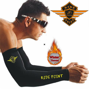 RIDE POINT The New 2020 winter Fleece arm sleeve cycling arm sleeve mtb mangas para brazo ciclismo Cool Tosh running sleeves