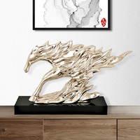 60cm Abstract Feng Shui Horse Art Sculpture Lucky Horse Statue Resin Craft Ornaments Home Decoration Accessories Gift R3993