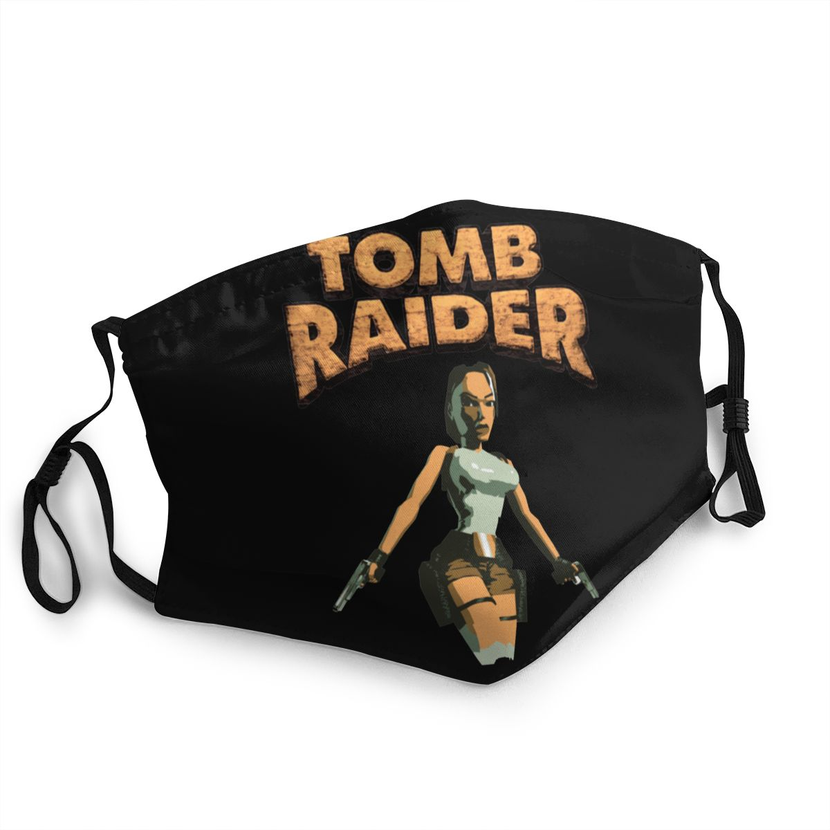 Tomb Raider Lara Croft Unisex Reusable Face Mask Anti Haze Dust Mask Protection Cover Respirator Mouth Muffle