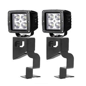 Image 5 - Przednia osłona uchwyt montażowy lampy zestaw z 16w miejscu pracy diody Led światło do Toyoty Fj Cruiser 2007 2015 światło Bar uchwyt montażowy