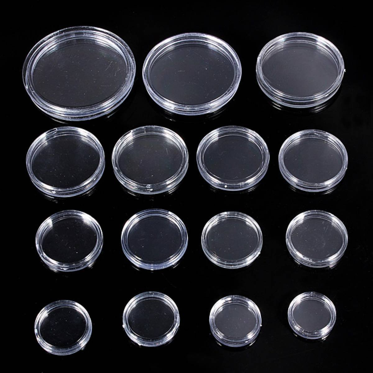 10 pcs Transparent small plastic coin box