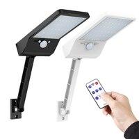 48 led 800 lm lâmpada solar corpo humano indução parede luz 3 modos pode ser escurecido jardim ao ar livre quintal caminho com controle remoto ip65 Lâmpadas solares     -