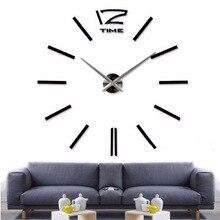 47 дюймов 3D настоящие большие настенные часы, зеркальные настенные наклейки, сделай сам, для гостиной, домашнего декора, часы, поступление, кварцевые большие настенные часы