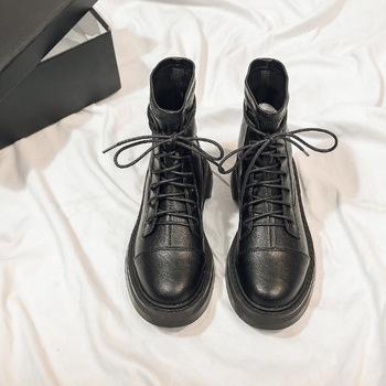 Buty damskie 2020 botki buty zimowe Martin buty Sexy buty damskie buty na obcasie buty w stylu brytyjskim cienkie buty elastyczne buty tanie i dobre opinie KINGBOOK CN (pochodzenie) ANKLE Fringe Stałe 2502 Dla dorosłych Mieszkanie z Jazda Jeździectwo Okrągły nosek Wiosna jesień