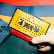 Handmade Mini Purse Women Men's Short Cowhide Certificate Cassette Bag Card Holder Purses Small Change Genuine Leather Wallets