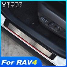 Vlarme pour Toyota RAV4 2019 2020 accessoires voiture porte seuil seuil plaque garniture intérieure en acier inoxydable plaques de protection couverture