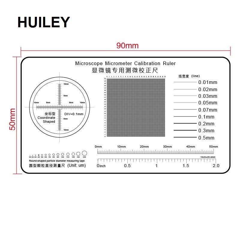 Microscope Micrometer Calibration Ruler Transparent Film PET Round-shaped Particle Diameter Measuring Tape Line Coordinate Shape