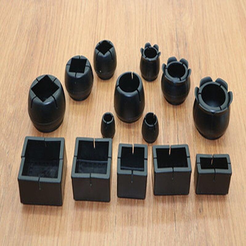 4 шт., квадратные силиконовые колпачки для ног стула, нескользящие носки для ног, защитные накладки для пола, пробки для труб, мебель