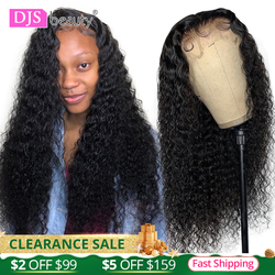 13x4 Curly Lace Front Human Hair Wigs Deep Wave Curly Frontal Wig Pre Plucked Lace Wigs For Black Women Remy 24 Inch Curly Wigs