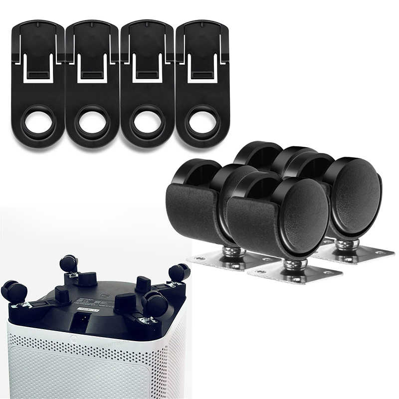 4 stuks Wiel + 4 stuks Snaps Montage Vervanging Voor Xiaomi Luchtreiniger PRO/2 S/2/ 1MAX HAU Cleanning Onderdelen