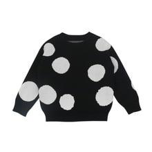 Children Kids Autumn Baby Boy Girl Polka Dot Print Cotton Sweater Outerwear Coat Clothes #p
