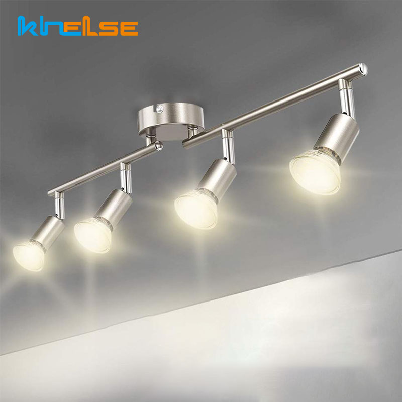 Rotatable Kitchen Ceiling Lights Angle Adjustable Bar Lamp GU10 LED Bulbs Showcase Wall Scones Living Room Cabinet Spot Lighting