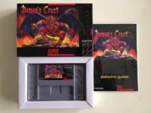 16Bit Games ** Demons Crest ( USA Version!! Box+Manual+Cartridge!! )