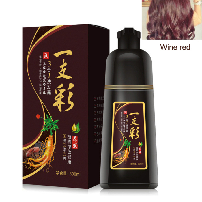 Hair Dye Color Shampoo Beauty Nourishes Long Lasting Care for Men Women Home Salon WH998