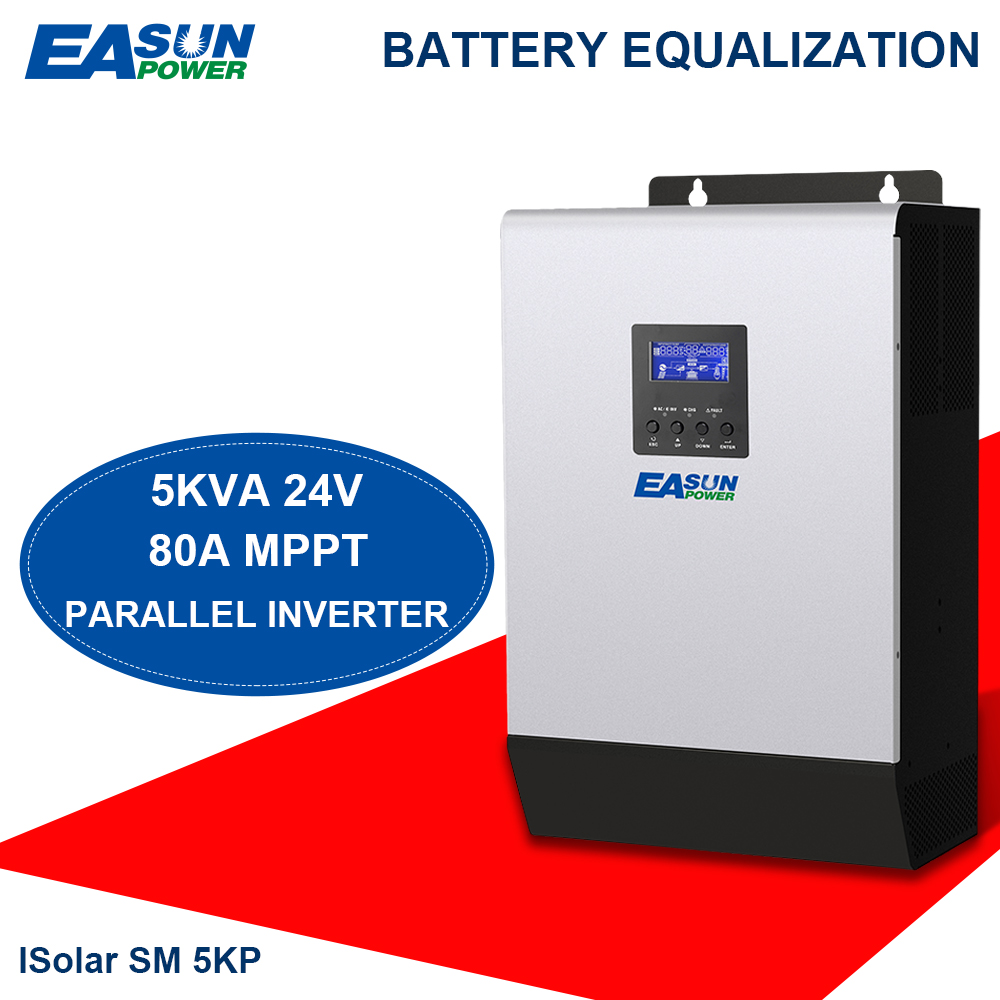 Solar-Inverter Battery-Charger MPPT EASUN 5KVA Pure POWER 4000W 24V with 80A 60A