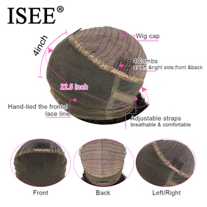 Image 5 - ISEE HAIR Straight 360 Lace Frontal Wig 150% Density Human Hair Wigs For Women Malaysian Straight Lace Frontal Human Hair Wigs