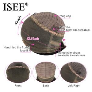 Image 5 - Isee 머리 360 레이스 정면 가발 150% 밀도 스트레이트 레이스 정면 인간의 머리가 발 레미 브라질 인간의 머리가 발 흑인 여성을위한