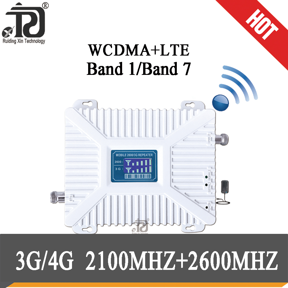 3g 4g Signal Booster 2100 2600 Mhz Mobile Signal Booster  LCD Display LTE WCDMA  Cellular Signal Amplifier