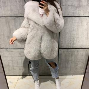 Image 4 - الحقيقي الفراء معطف السيدات الفراء الطبيعي معطف كامل بلت فرو الثعلب معطف