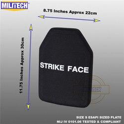 ESAPI Ballistische Plaat Bulletproof Panel NIJ niveau 4 IV Alumina & PE Stand Alone Twee STUKS Van Maat S tot XL Body Armor-Militech