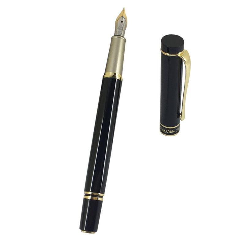 OFGIFICE METAL BLACK GOLDEN Acrylic STUDENT GIFT Fountain Pen